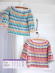 Разноцветные детские пуловеры крючком. Схемы.