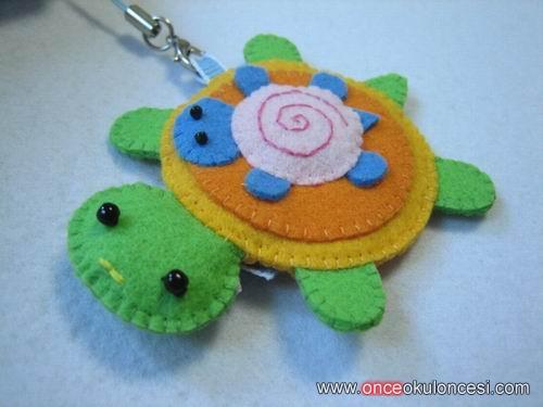 брелок для ключей черепаха/Брелок из фетра своими руками черепаха